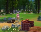 Sims 4 Outdoor Leben Zuflucht am Flussufer Garten 2