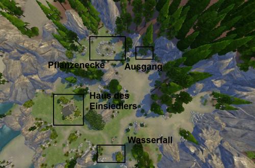 Sims 4 Outdoor Leben geheimes Grundstück Überblick