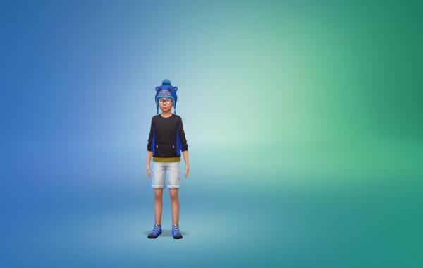 Sims 4 Outdoor Leben vorgefertigtes Outfit Kind 1