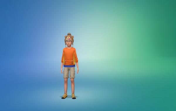 Sims 4 Outdoor Leben vorgefertigtes Outfit Kind 3