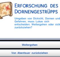 Sims 4 geheimes Grundstück Text 1