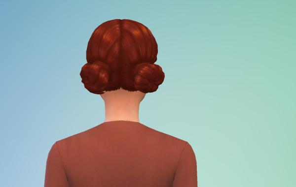 Sims 4 Outdoor Leben Kurzhaarschnitt hinten