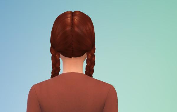 Sims 4 Outdoor Leben Langhaarschnitt 1 hinten