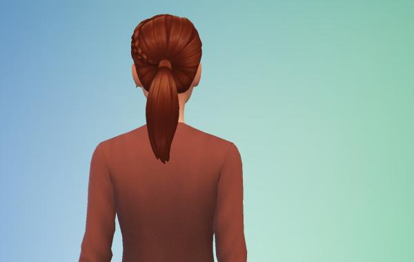 Sims 4 Outdoor Leben Langhaarschnitt 4 hinten