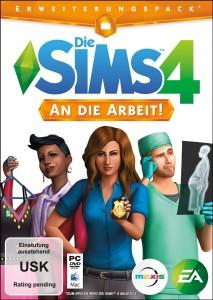 Cover Sims 4 An die Arbeit