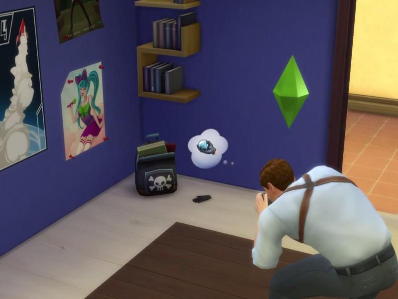Die Sims 4 Erweiterung  Detektiv am Tatort Hinweis fotografieren
