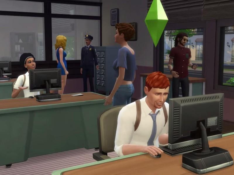 Die Sims 4 Erweiterung Einblick in das Polizeirevier 3