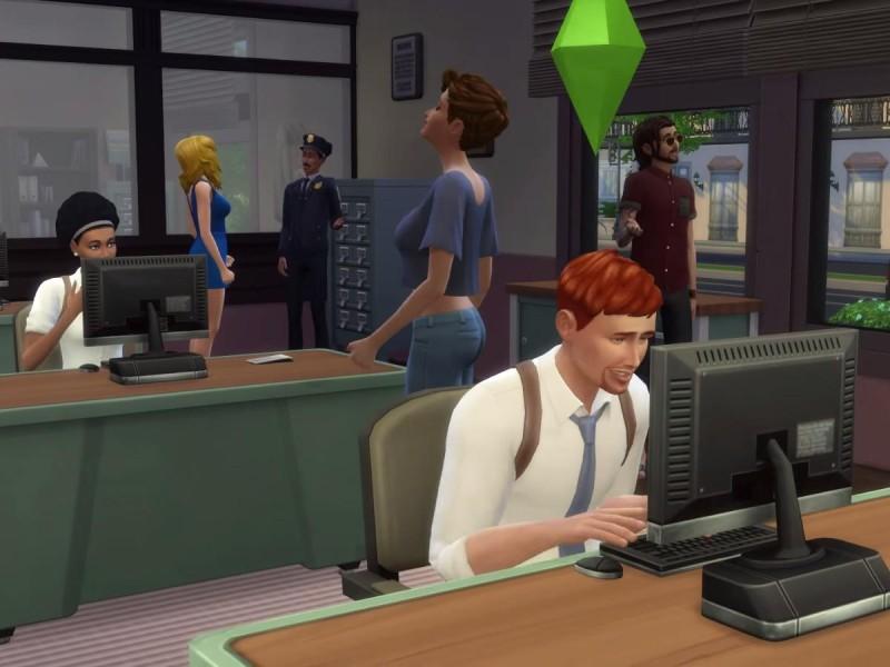 Die Sims 4 Erweiterung Einblick in das Polizeirevier 4