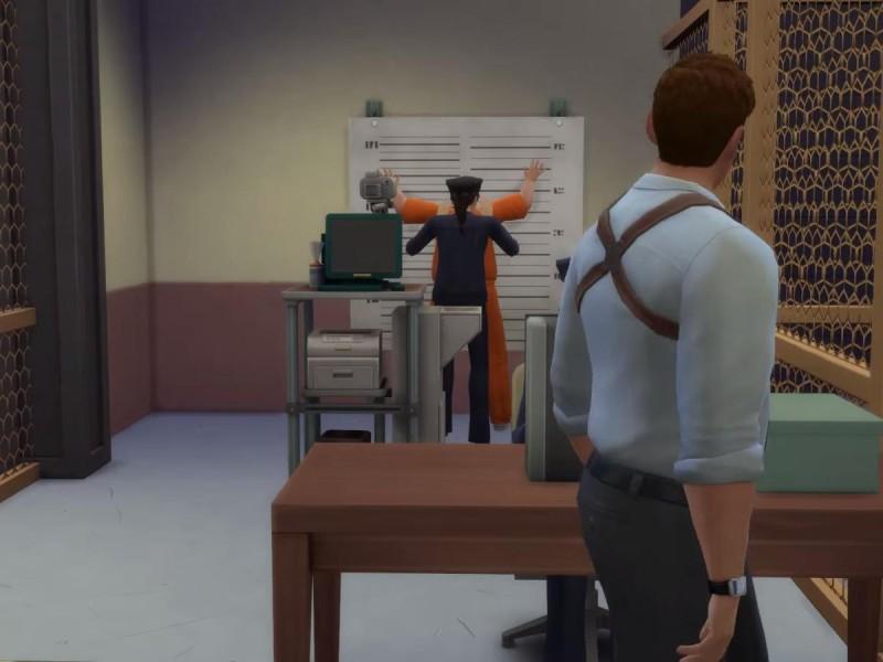Die Sims 4 Erweiterung Einblick in das Polizeirevier