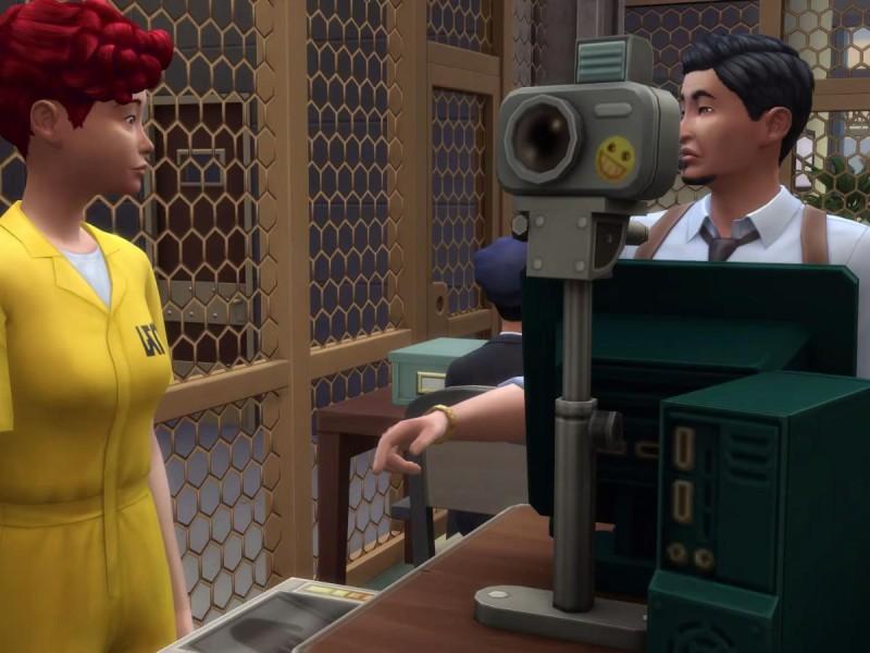 Die Sims 4 Erweiterung Verbrecher Fingerabdrücke nehmen