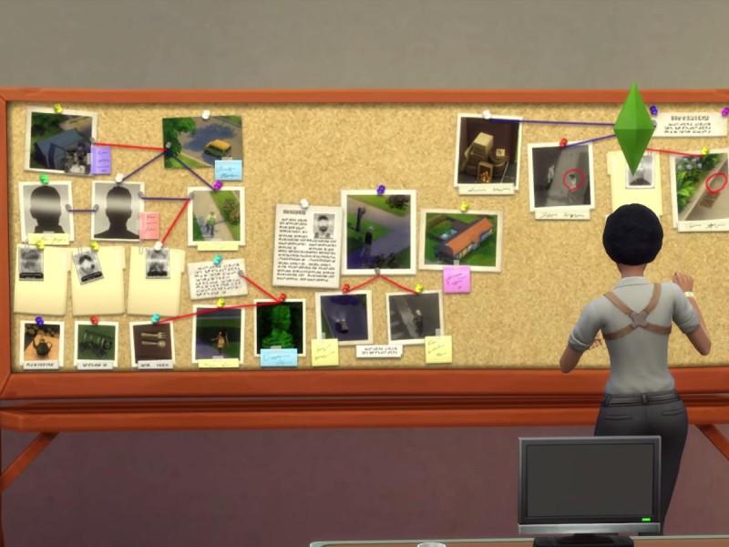 Die Sims 4 Erweiterung Verbrecherkarte Hinweise zusammensetzen 3