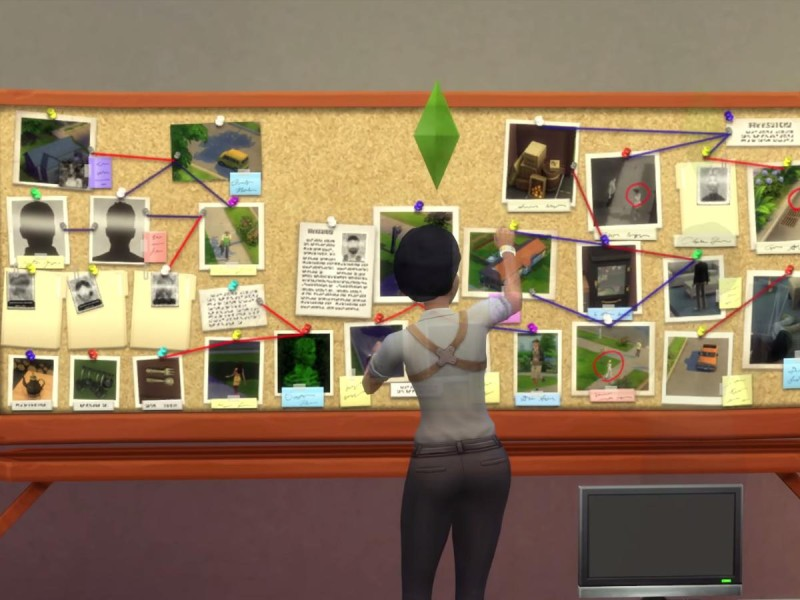 Die Sims 4 Erweiterung Verbrecherkarte Hinweise zusammensetzen 4