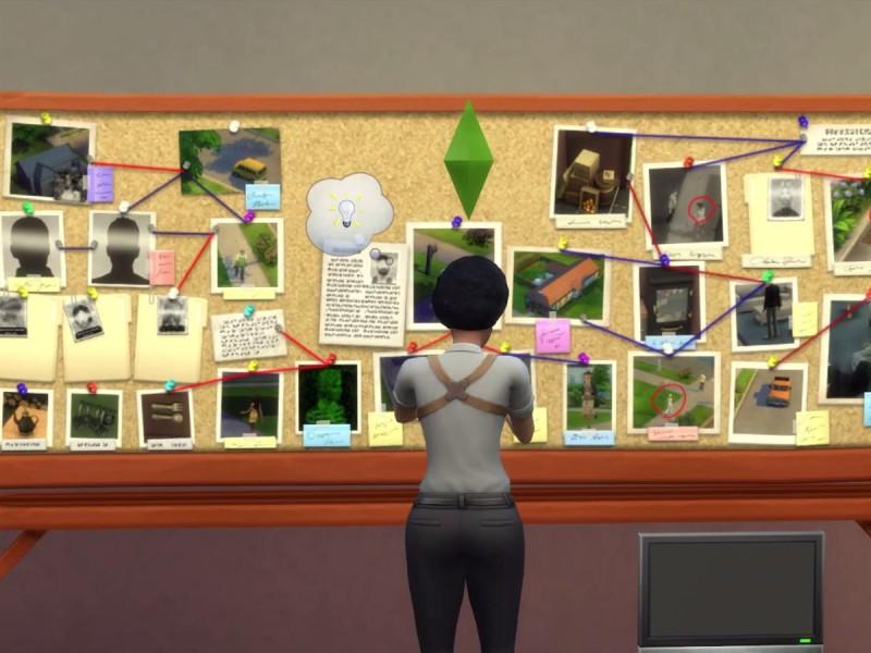 Die Sims 4 Erweiterung Verbrecherkarte Hinweise zusammensetzen 5