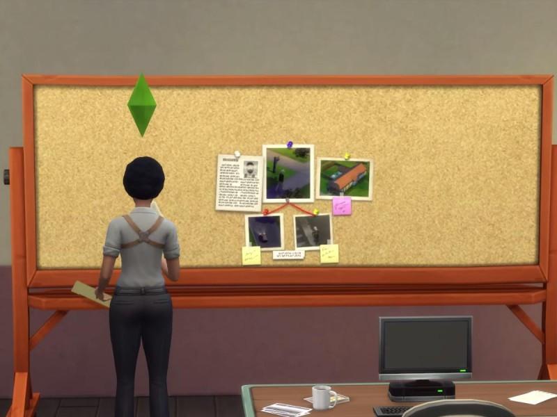 Die Sims 4 Erweiterung Verbrecherkarte Hinweise zusammensetzen