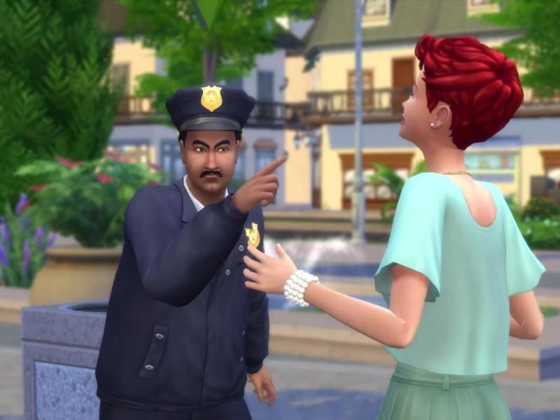 Die Sims 4 Erweiterung Verbrecherkarte festnehmen 2