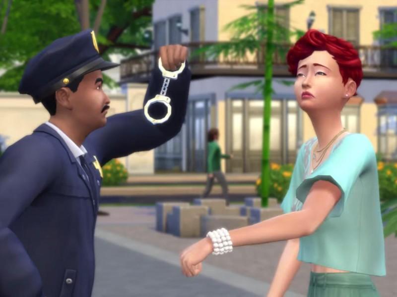 Die Sims 4 Erweiterung Verbrecherkarte festnehmen 3
