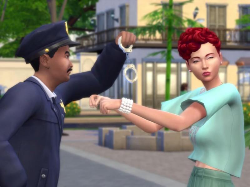 Die Sims 4 Erweiterung Verbrecherkarte festnehmen 4