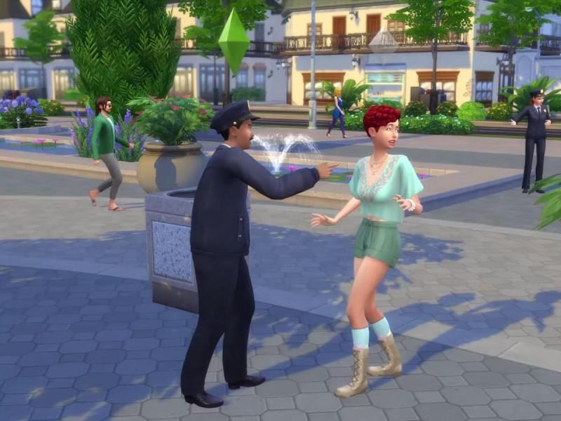 Die Sims 4 Erweiterung Verbrecherkarte festnehmen