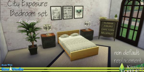 Schlafzimmer Stadt 1
