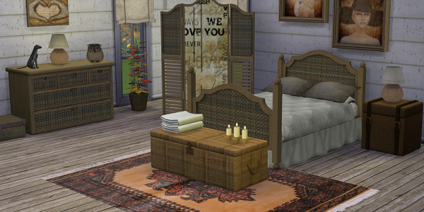 Sims 4 Download Schlazimmer Shabby Chic 1