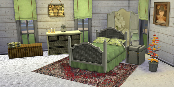Sims 4 Download Schlazimmer Shabby Chic 4