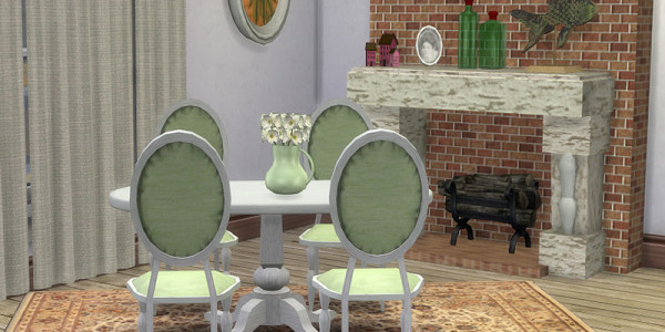 Sims 4 Download Shabby Chic Esszimmer 4