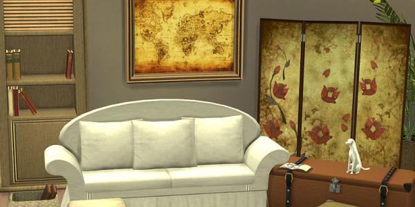 Sims 4 Download Shabby Chic Wohnzimmer 1.2