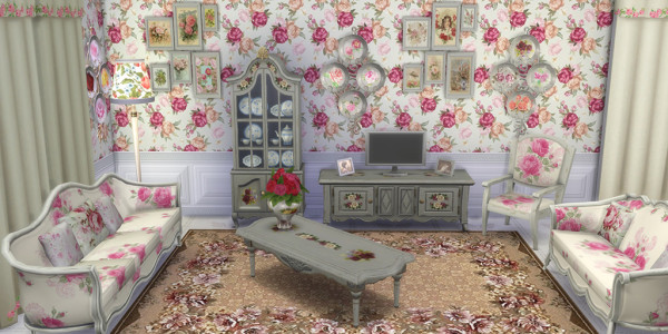 Sims 4 Download Shabby Chic Wohnzimmer 2