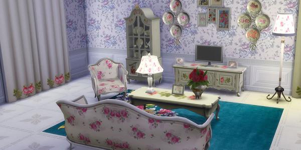 Sims 4 Download Shabby Chic Wohnzimmer 4