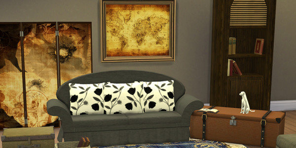 Sims 4 Download Shabby ChicWohnzimmer 2