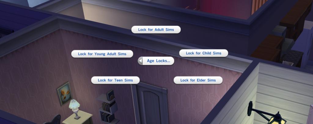 Verschließbare Türen in Sims 4