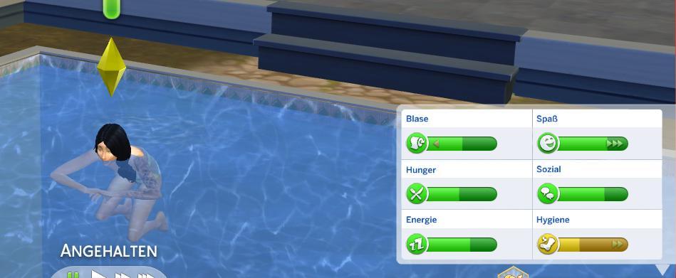 Sims 4 Mod Hygienegewinn beim Schwimmen